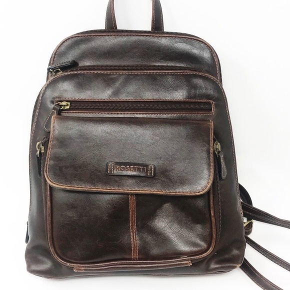 390a85f17af3 Vintage 90s Mini Backpack Dark Brown Convertible